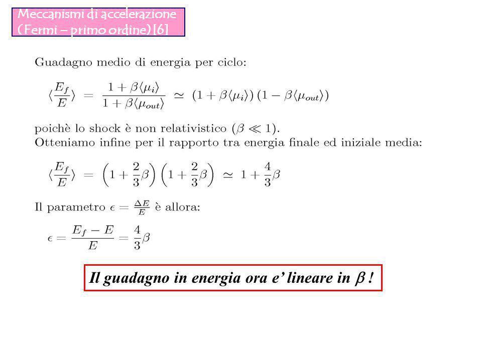 Meccanismi di accelerazione (Fermi – primo ordine)[6]